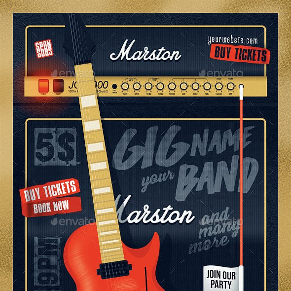 Guitar Cabinet Poster Template