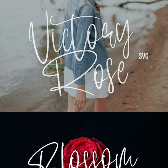 Victory Rose SVG Brush Font