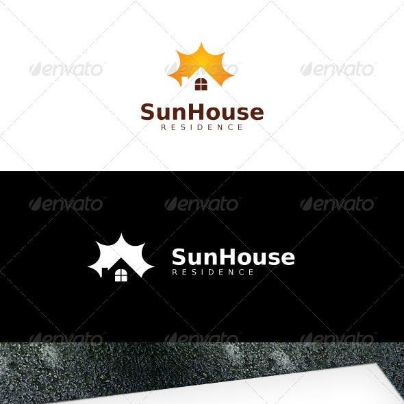 Sun House Logo Template