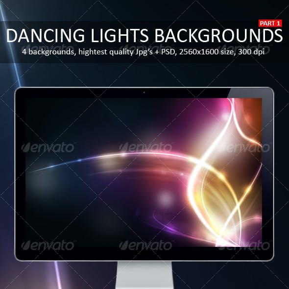 Dancing Lights Backgrounds Part 1