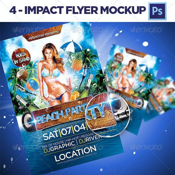 4 Impact Flayer Mockup