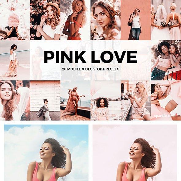 20 Pink Love Lightroom Presets and LUTs