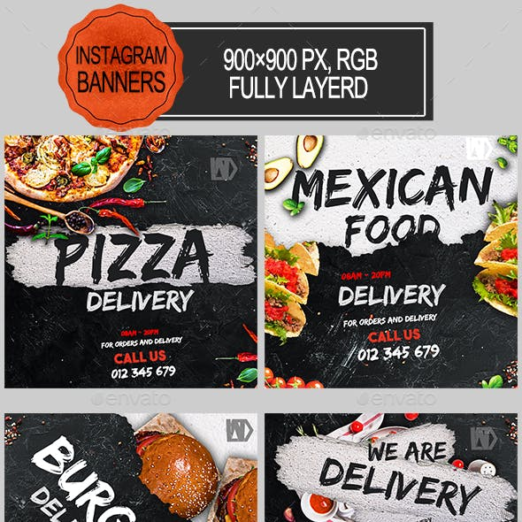 Food Delivery Instagram Banners