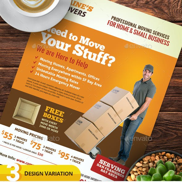 Moving Services Flyer Templates