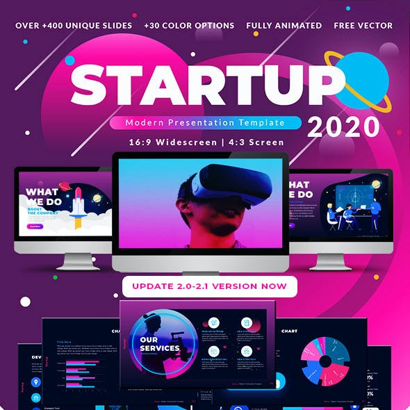 2020 Startup & Multipurpose Premium PowerPoint Presentation Template