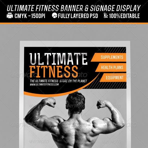 Fitness Centre or Product Banner PSD Template