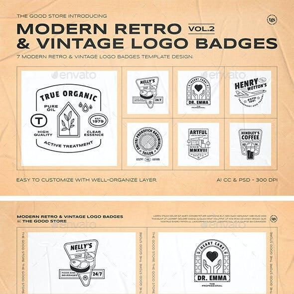 Retro Logo Badges Set Vol.2