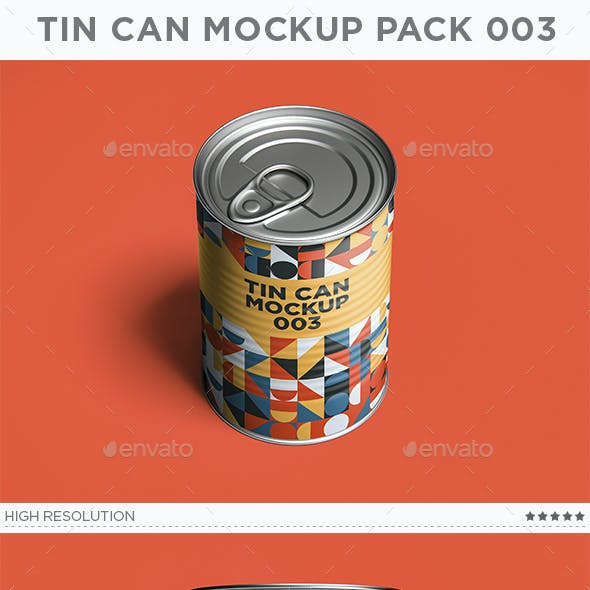 Tin Can Mockup Pack 003