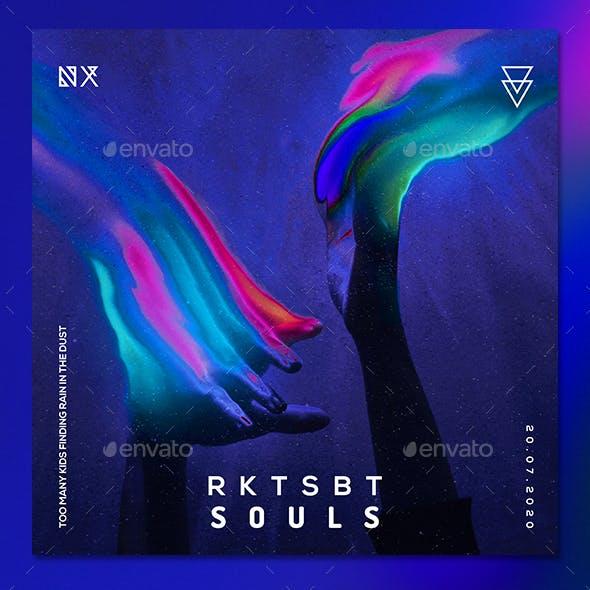 Dark Music 9 Album Cover Template