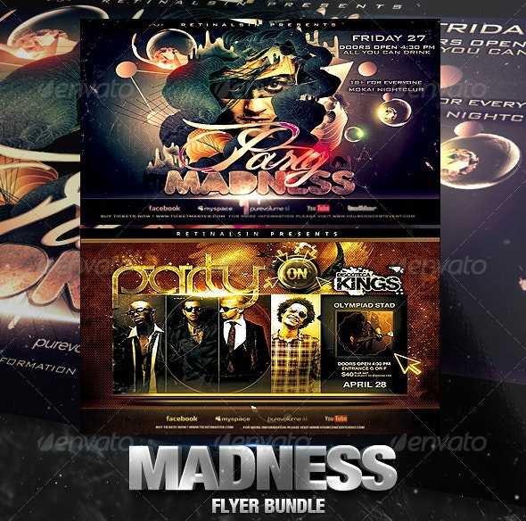 Madness Flyer Bundle - Clubs & Parties Events