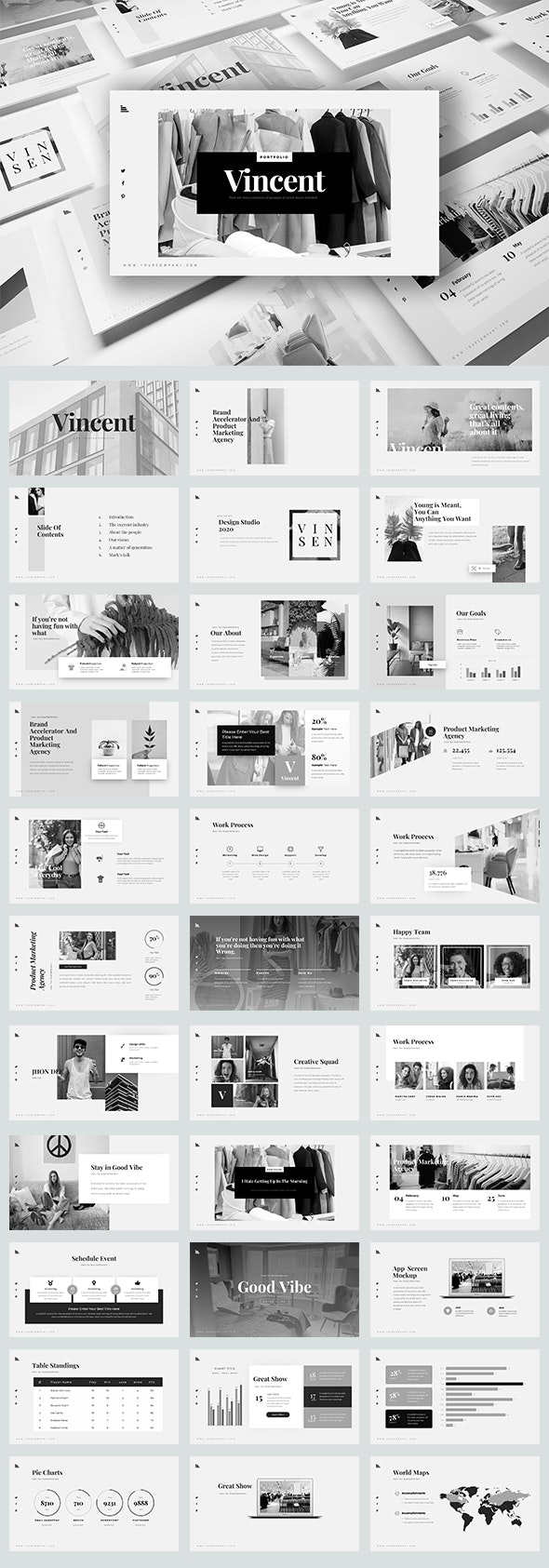 Vincent Keynote Templates - Business Keynote Templates