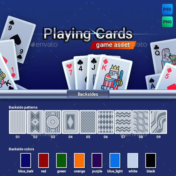 Playing Cards Game Asset