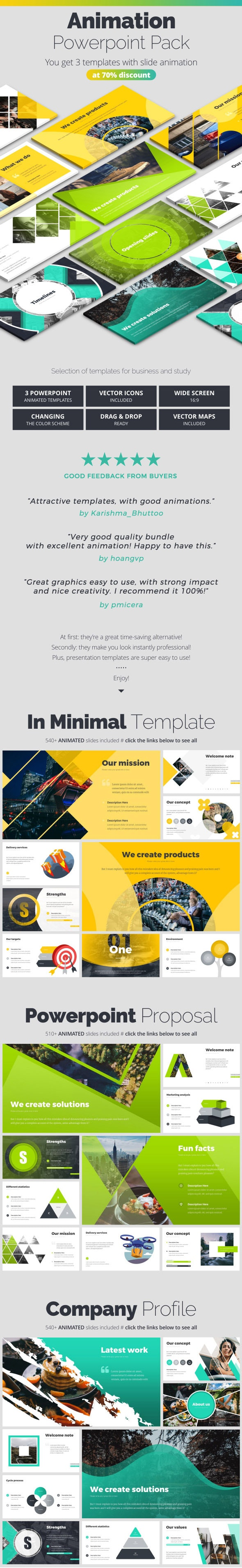 Pitch Deck Animated Infographics - Pitch Deck PowerPoint Templates