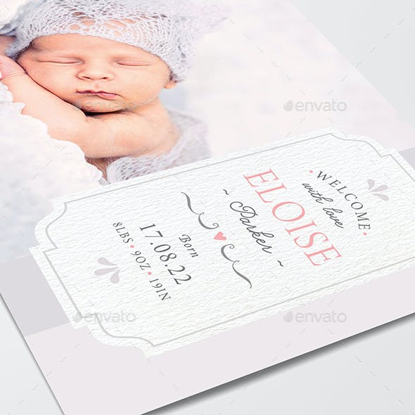 Baby Birth Announcement Postcard