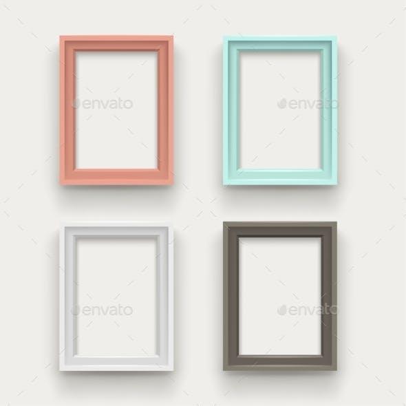 Frames Set on White Background