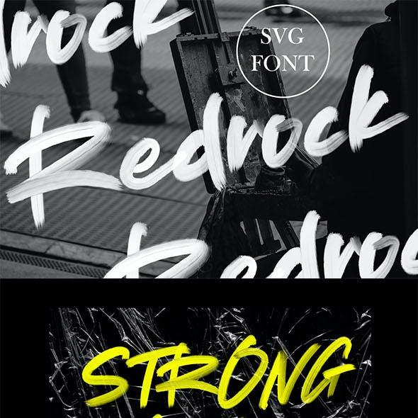 Redrock   SVG Brush Font