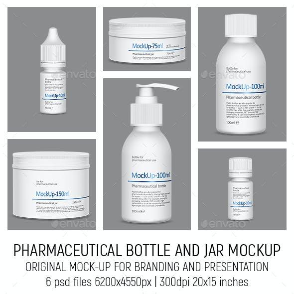 Pharmaceutical Bottle and Jar Mockup