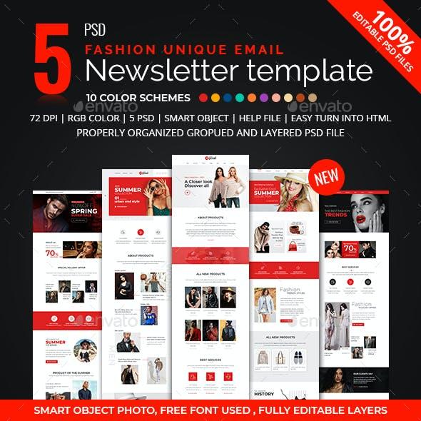 5 Fashion E-newsletter PSD Template