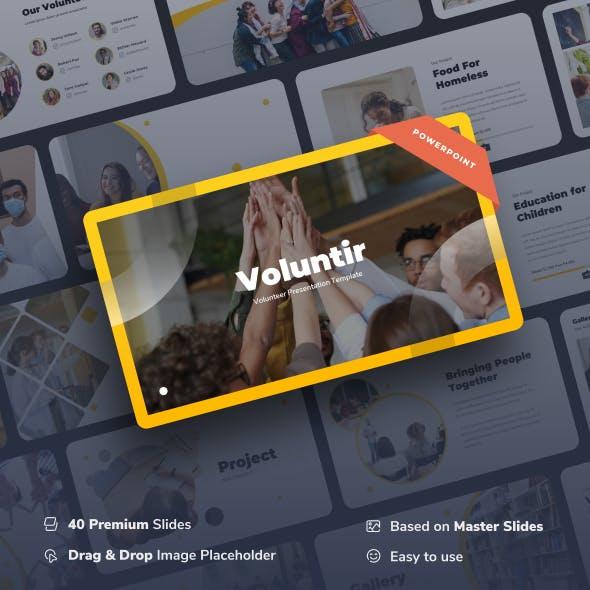 Voluntir - Volunteer Power Point Presentation