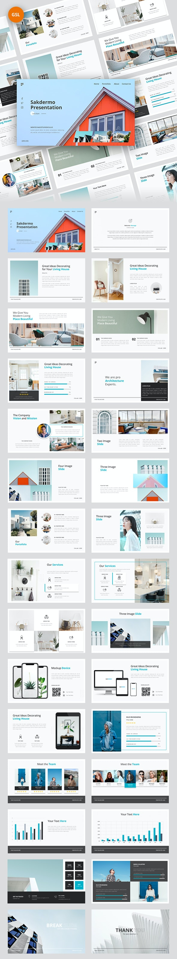 Sakdermo Multipurpose Google Slides Template - Google Slides Presentation Templates