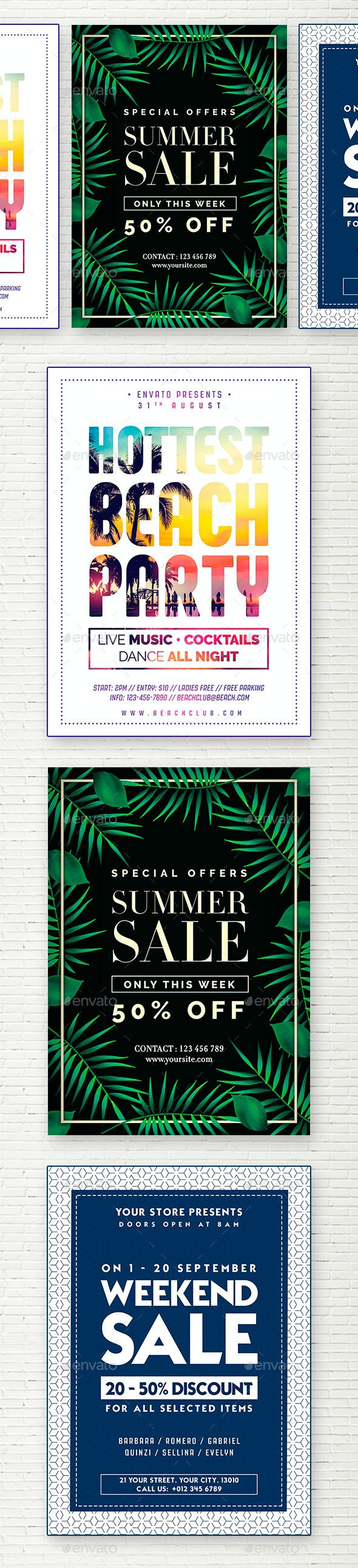 Summer Bundle Flyer - Flyers Print Templates