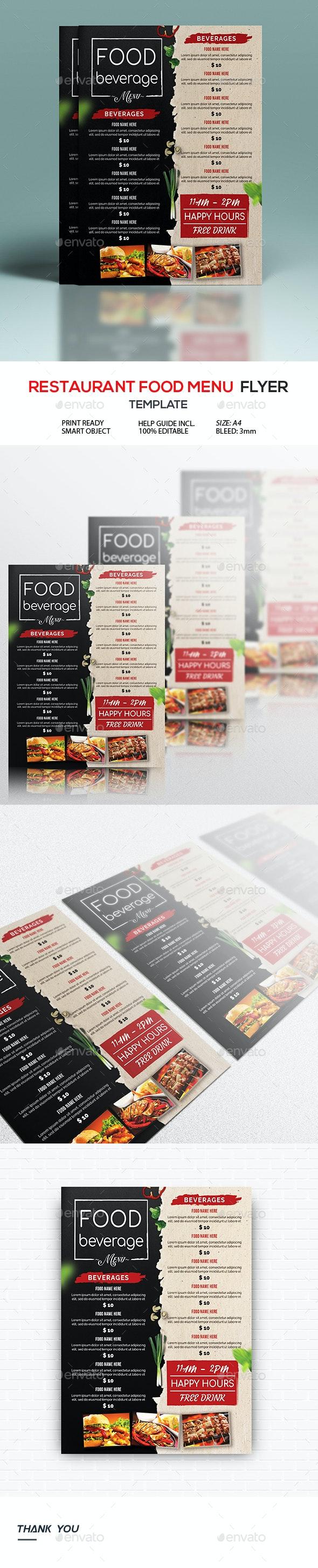 Restaurant Food Menu Flyer - Restaurant Flyers