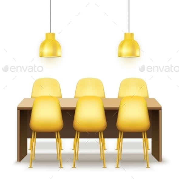 Large Dinner Table with Chairs