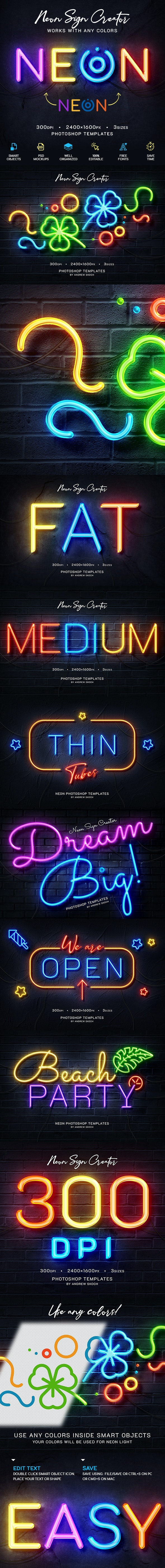 Neon Wall Logo Creator - Text Effects Actions