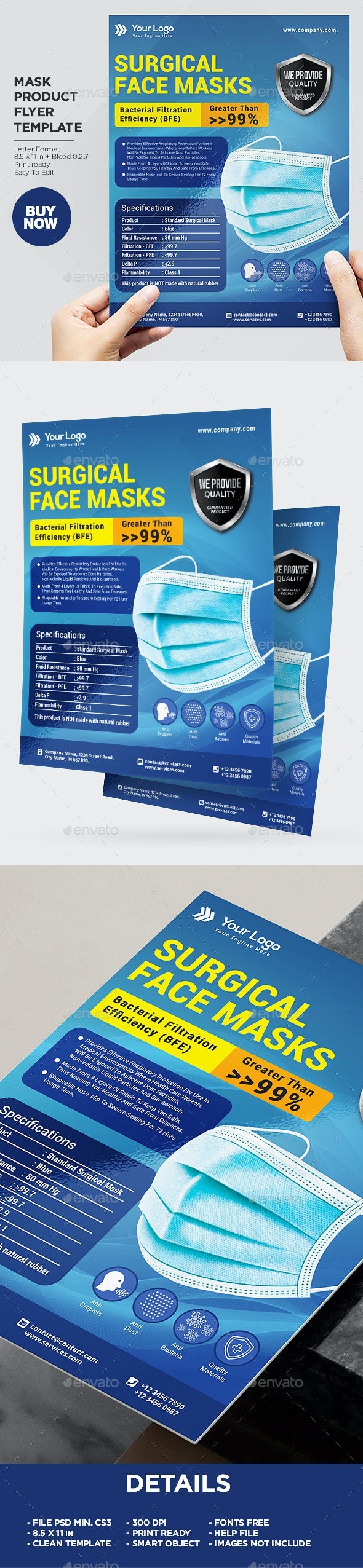 Product Flyer Surgical Mask - Corporate Flyers
