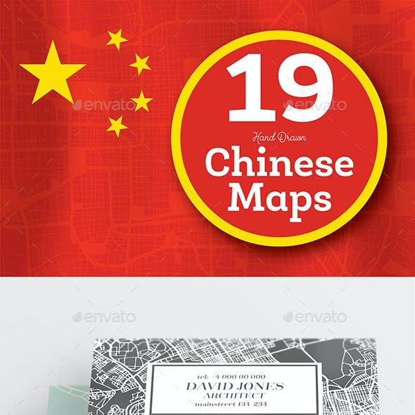 19 Hand Drawn Chinese Maps