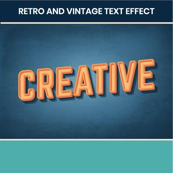 Retro Text Effect for Illustrator