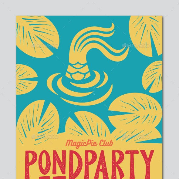 Pond Party Flyer