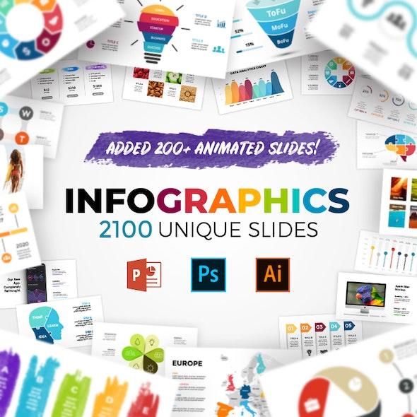 Huge Infographics Bundle! Lifetime Updates! PowerPoint, Photoshop, Illustrator. - Business PowerPoint Templates