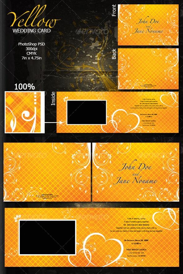 Yellow Wedding Card - Weddings Cards & Invites