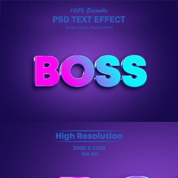 Cool Gradient Style Text Effect