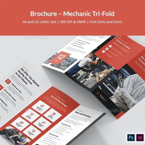 Brochure – Mechanic Tri-Fold