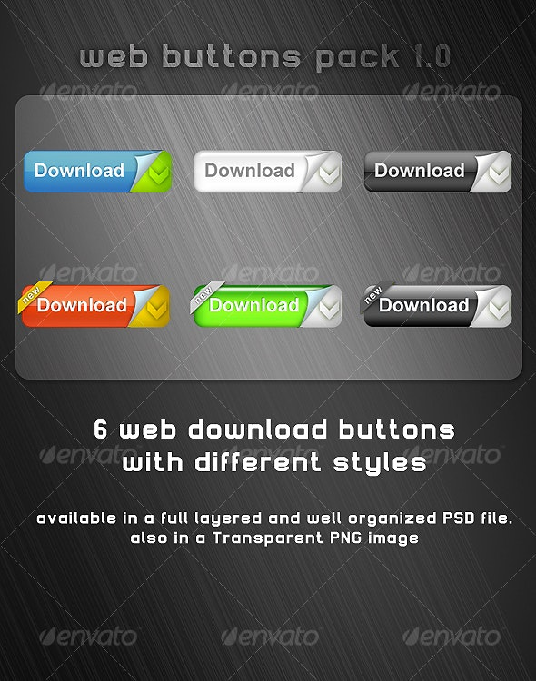 web buttons pack v1.0 - Buttons Web Elements