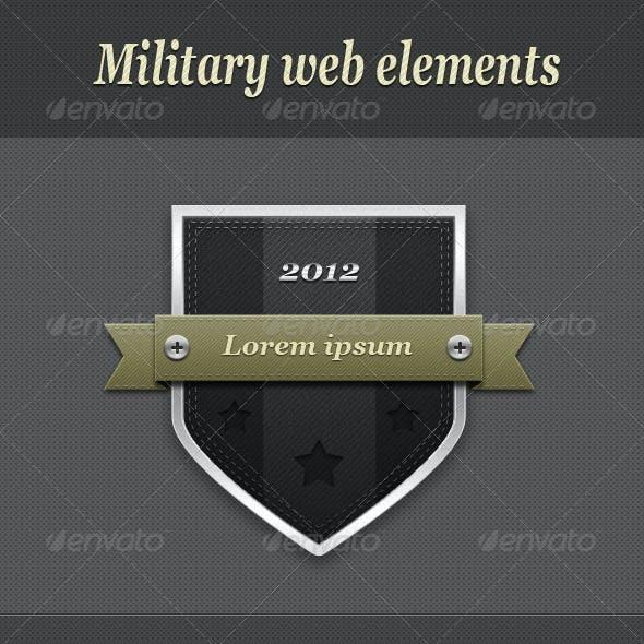 Set of Military Web Elements