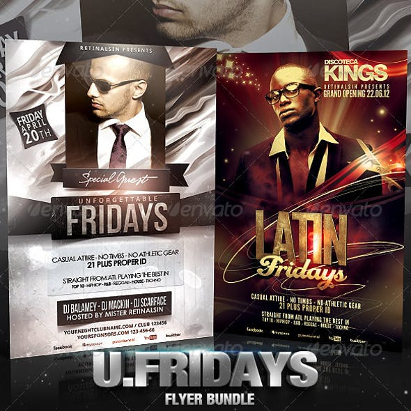 Unforgettable Fridays Flyer Bundle