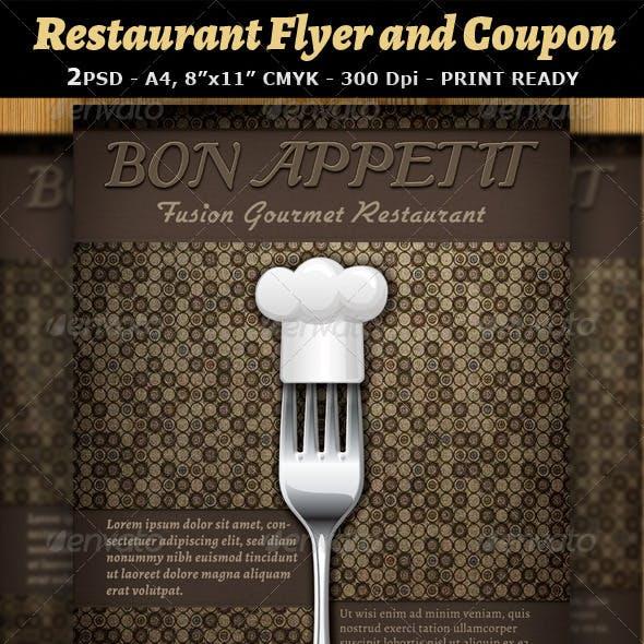 Restaurant Magazine Ad or Flyer Template v7