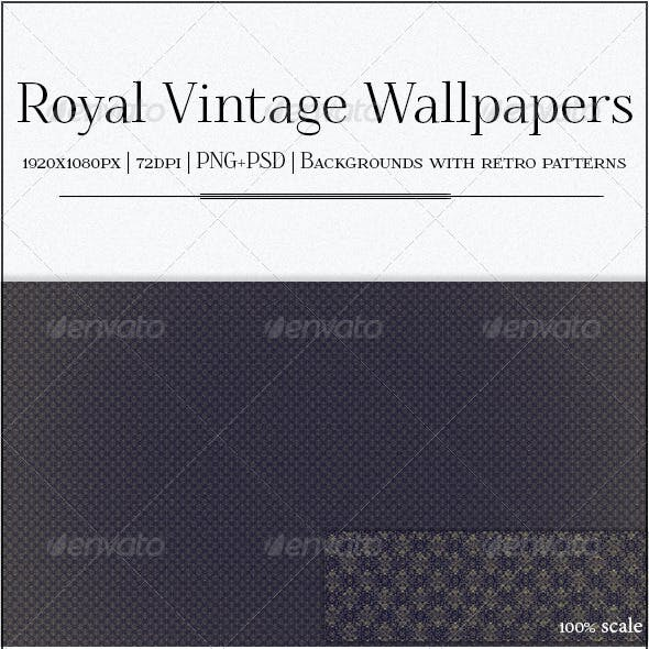 Vintage Royal Wallpapers - 7 Patterned Backgrounds