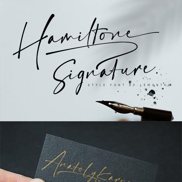 Hamiltone | Signature Font