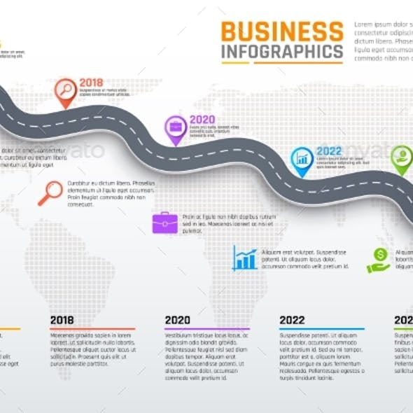 Business Infographics, Stages of Road