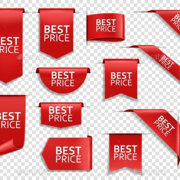Best Price Red Ribbons and Banners