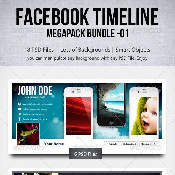 Facebook Timeline - Megapack Bundle - 01