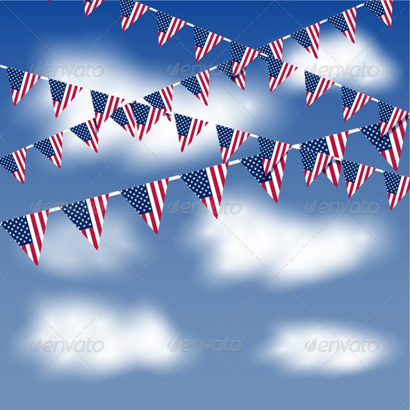 Bunting in the sky - Objects Vectors