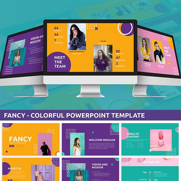 Fancy - Colorful Powerpoint Template