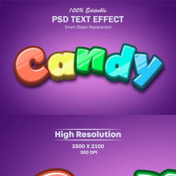 Colorful Candy Text Effect