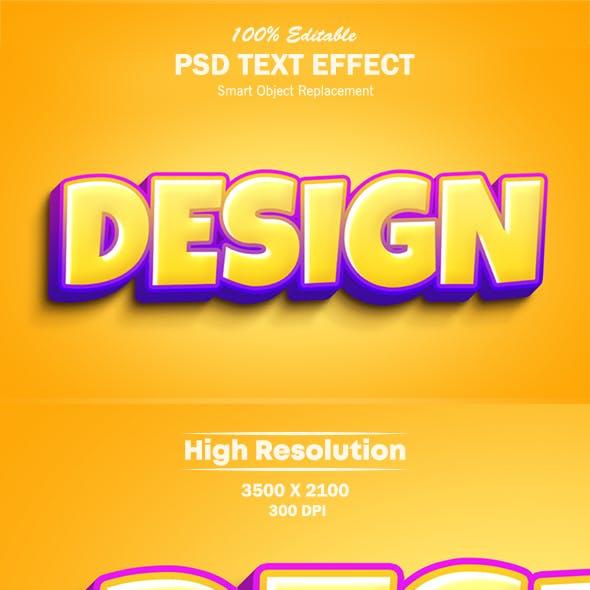 3D Cartoon Style Text Effect