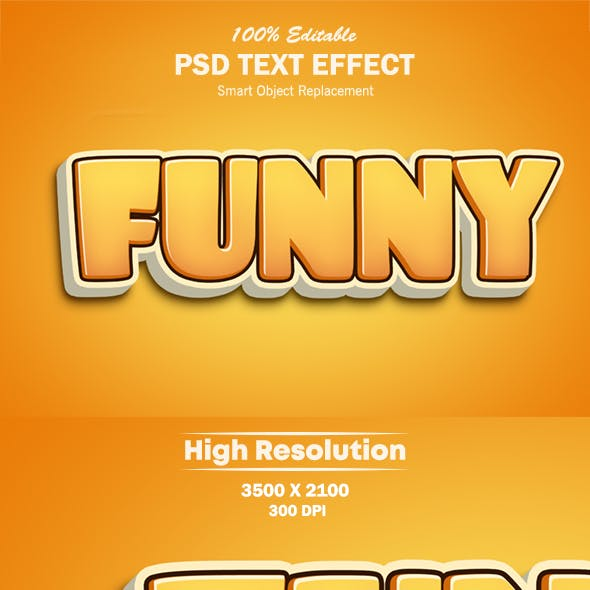 3D Funny Text Effect